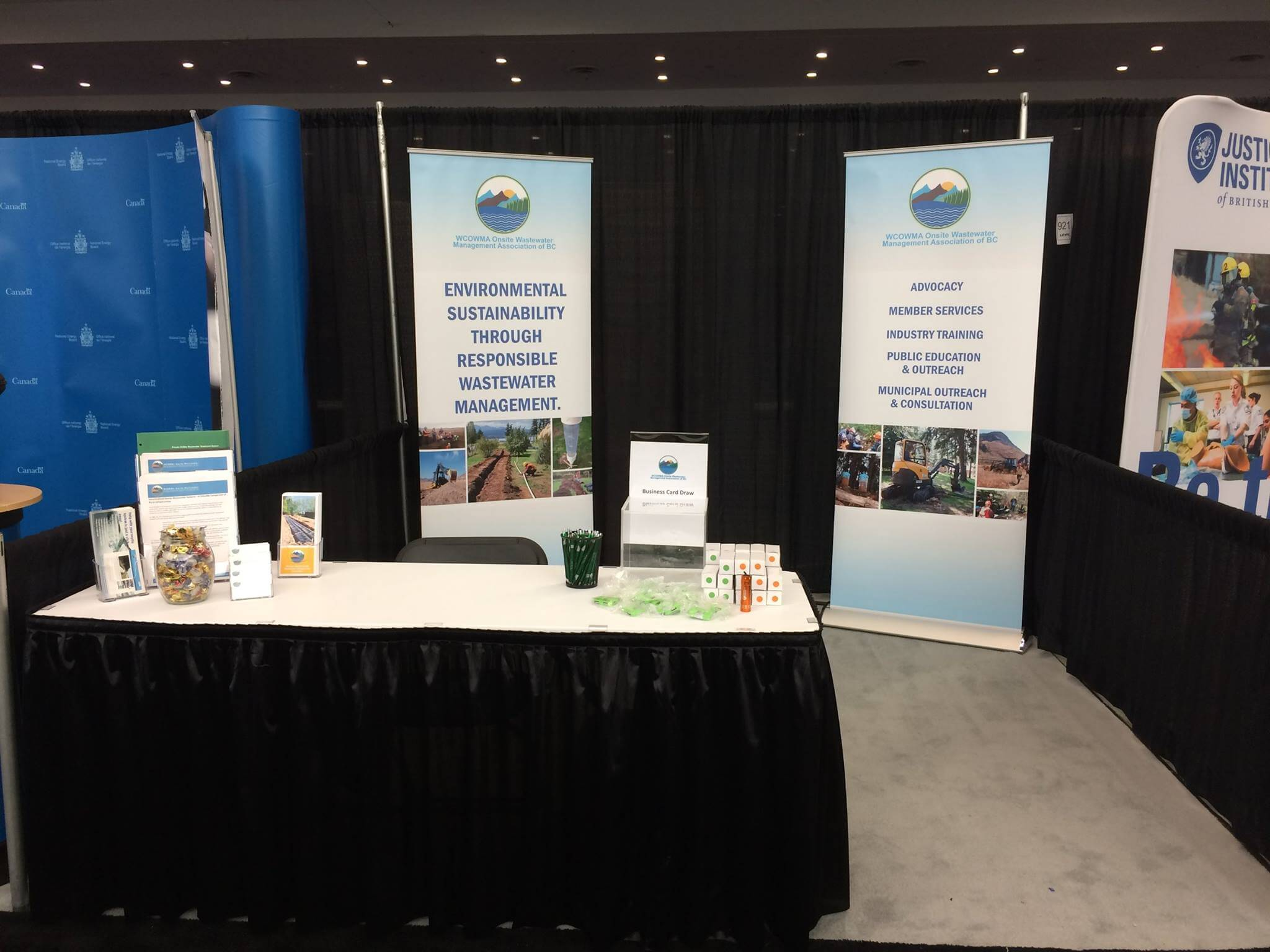 Trade Show Booth Vancouver : Ubcm conference wcowma onsite wastewater management